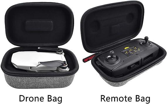 NANAD Mavic Mini Estuche, Caja de Transporte para Drones portátil + Bolsa de Viaje para dji Mavic Mini Drone Accesorios, No nulo, como se Muestra en la Imagen, Drone Bag+ Remote Bag: