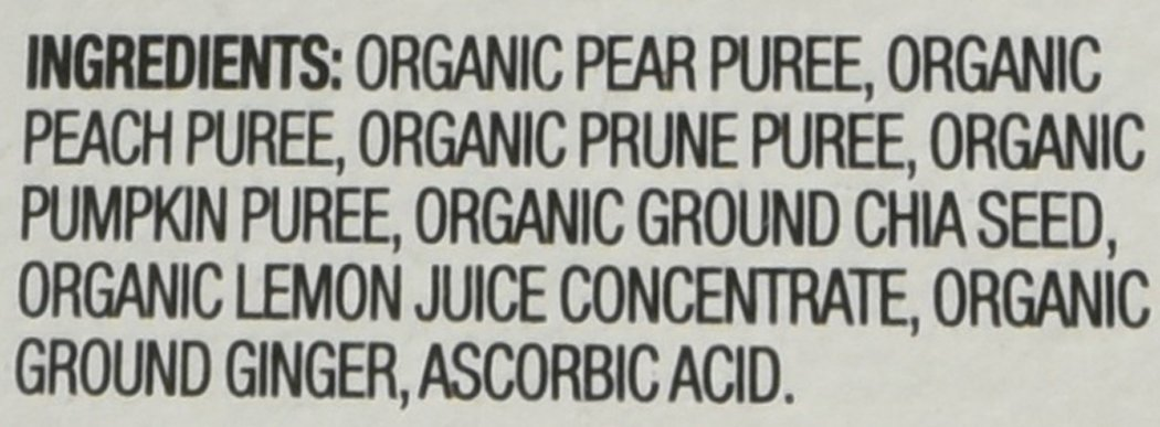 Plum Organics Baby Grow Well Food, Prune/Pear/Peach/Pumpkin with Chia Puree, 3.5 Ounce (Pack of 12) by Plum Organics (Image #4)