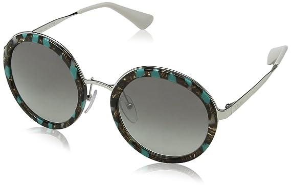 Prada 0PR 50TS Gafas de sol, Striped Grey/Green, 54 para ...
