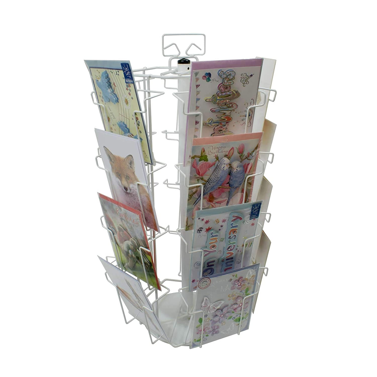 20 Pockets A5 Portrait Counter Stand in White K4W
