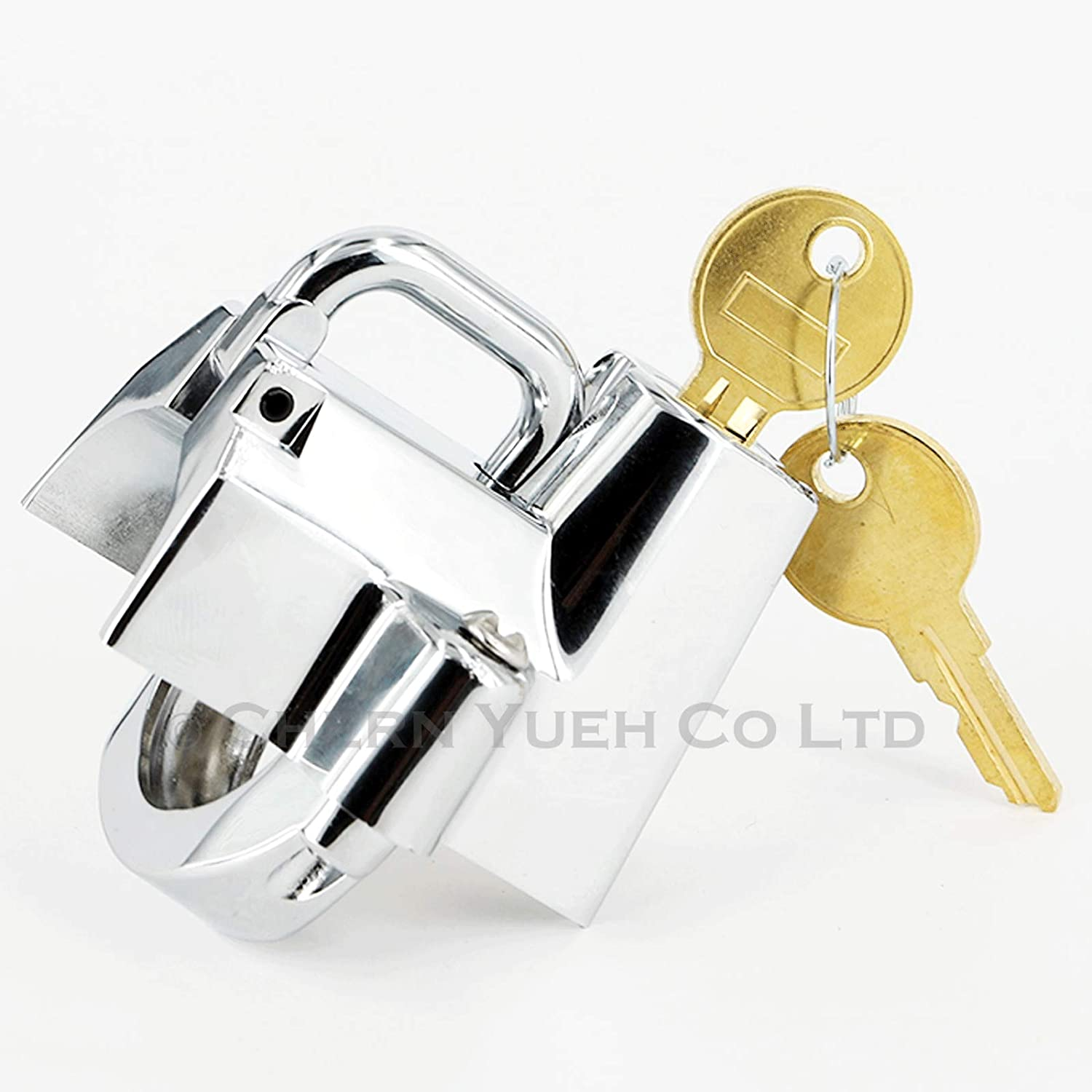 Tamper-Proof Helmet Security Lock Universal Fit for Motorcycles with 1-1//4 to 1-1//2 Diameter Frame Tubes Matte Black