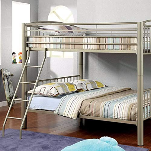 Benjara Benzara Metal Full Size Bunk Bed