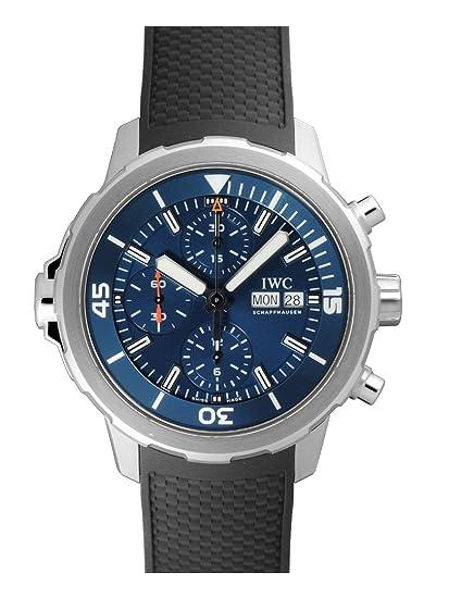 Aquatimer Cronógrafo Azul Dial Negro Rubber Reloj para hombre