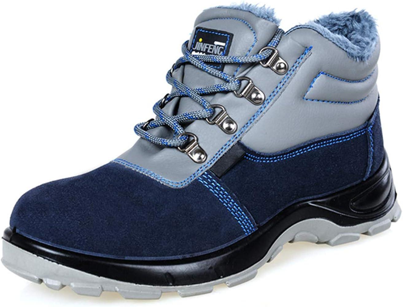 Zapato Seguridad Zapatos Trabajo con Punta de Acero Antideslizante, Calzado de Trabajo de Invierno, Zapatillas de Deporte Anti-Golpes y Anti-Piercing,Azul,35EU: Amazon.es: Zapatos y complementos