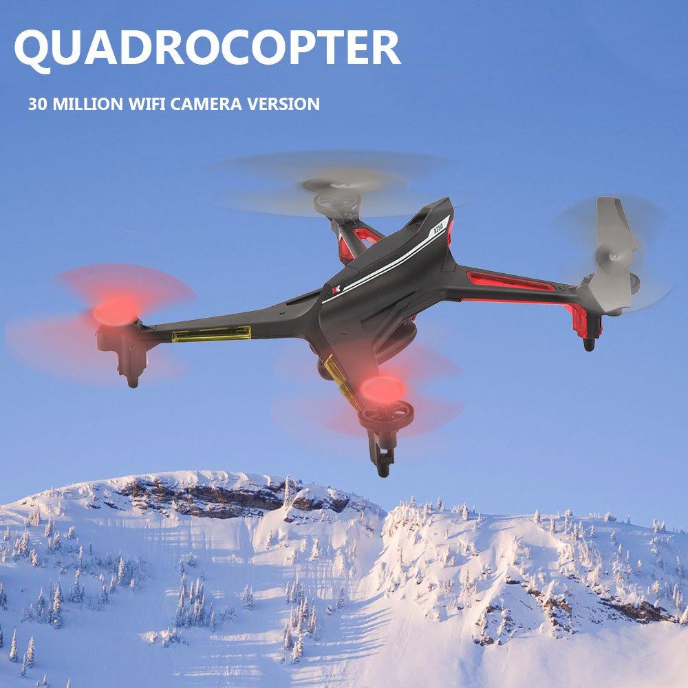 Cewaal X250 außer Kontrolle Schutz Fernbedienung Quadcopter Drone,ausgestattet mit 300.000 Pixel HD Kamera,bunte LED-Leuchten 3D Flip fliegende Spielzeug für Kinder