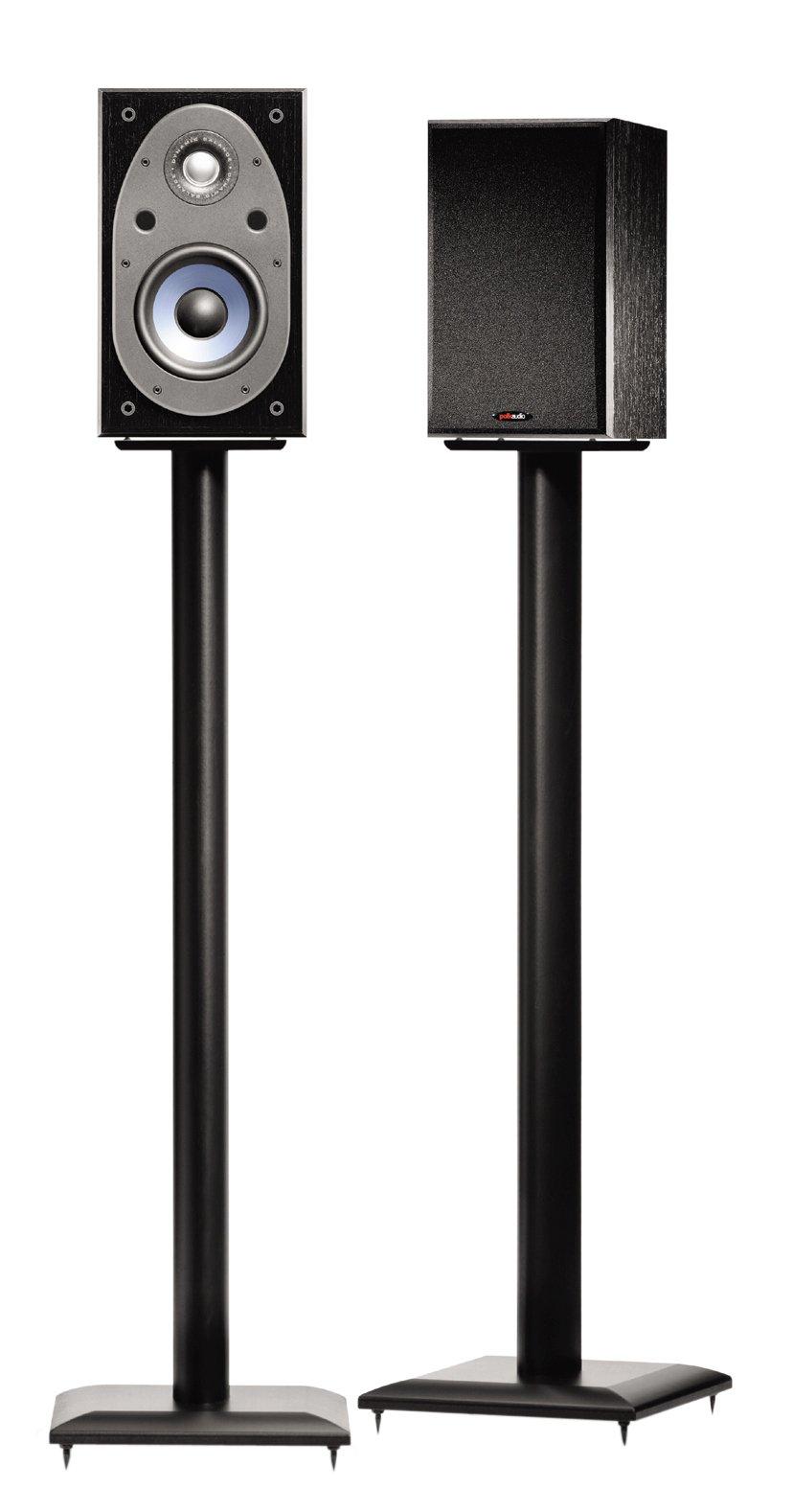Sanus NF36B 36'' Natural Foundations Speaker Stand Black by Sanus