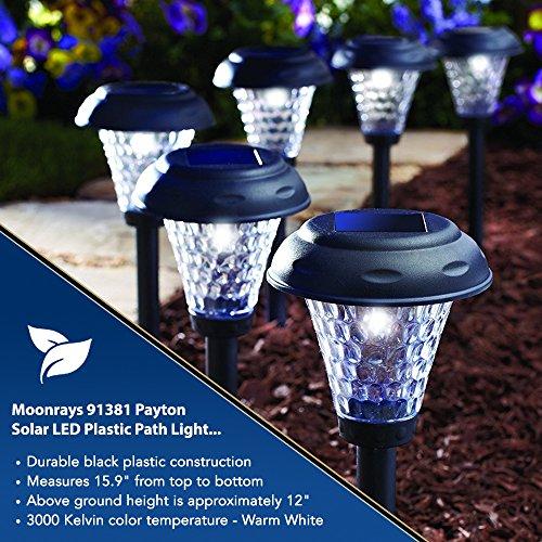 Moonrays 91381 Payton Solar Led Plastic Path Light 2x