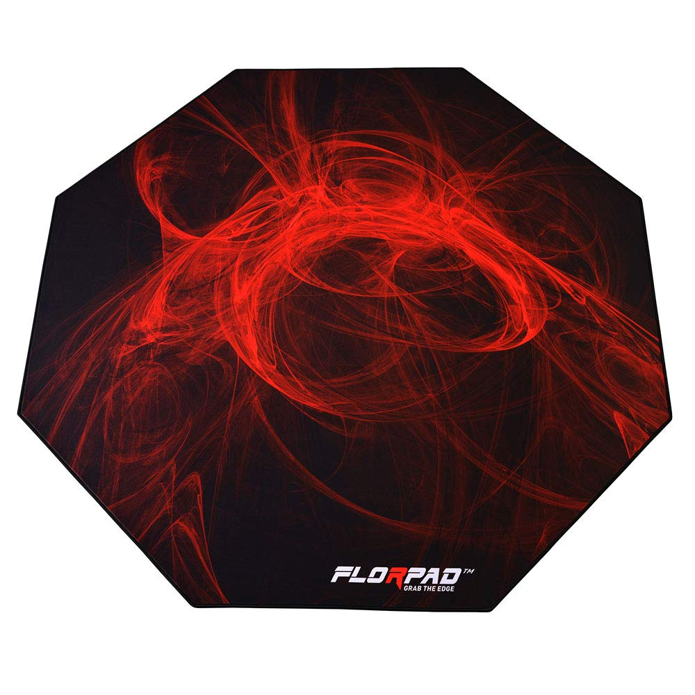 Florpad Fury Gaming Office Chair Mat | Protects All Floors | Liquid Resistant | Noise Cancelling | Smooth Surface 45'' x 45'' by FLORPAD GRAB THE EDGE