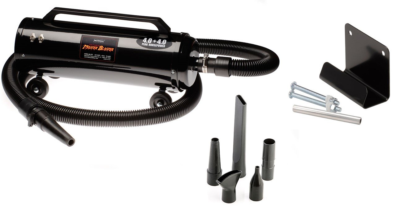 e6adfc95fd7ee Metro Vac MB-3CD Air Force Master Blaster 8-HP Car & Motorcycle Dryer  Bundle with Wall Mount Bracket