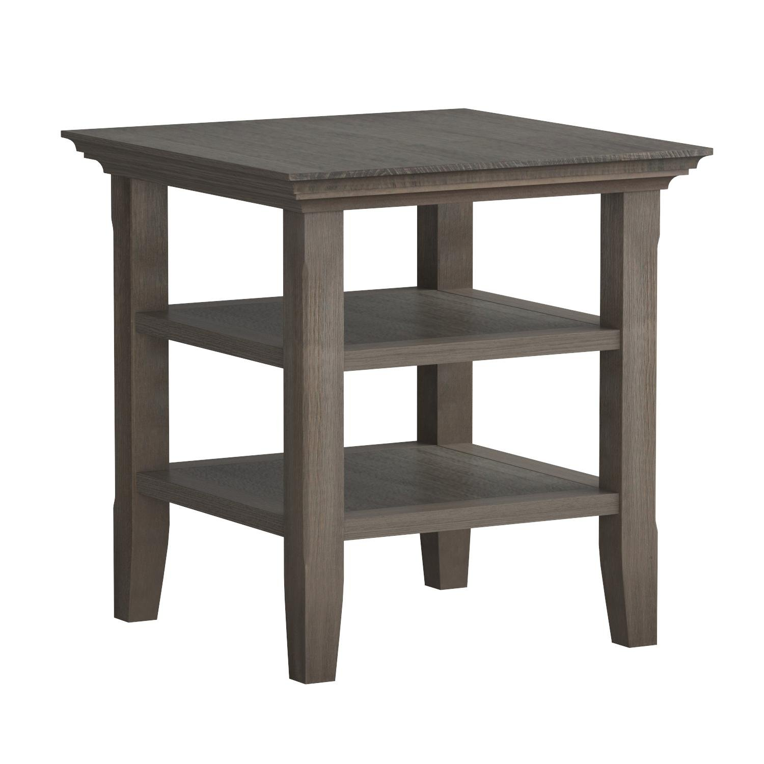 Simpli Home Acadian Solid Wood End Side Table, Farmhouse Grey by Simpli Home (Image #6)