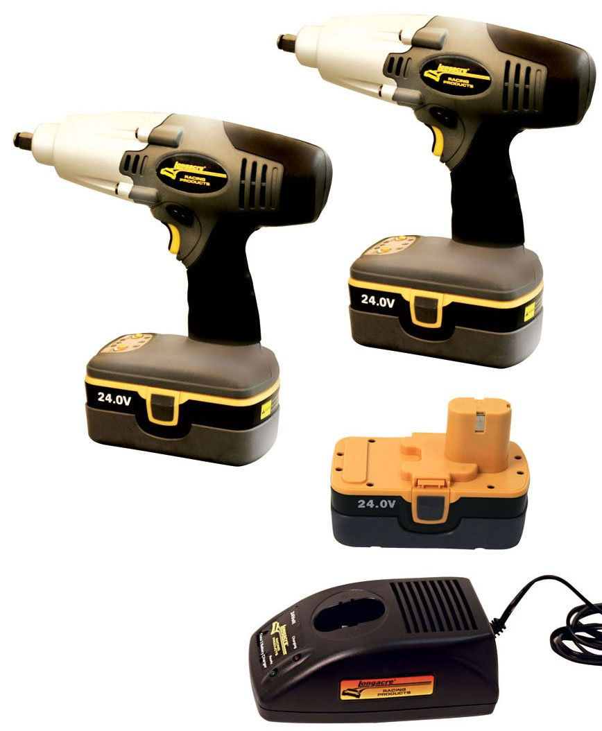 LA68610 Longacre Cordless Impact Wrenchs 2 Impact Wrenches with 1 Charger & 3 Batteries by Longacre