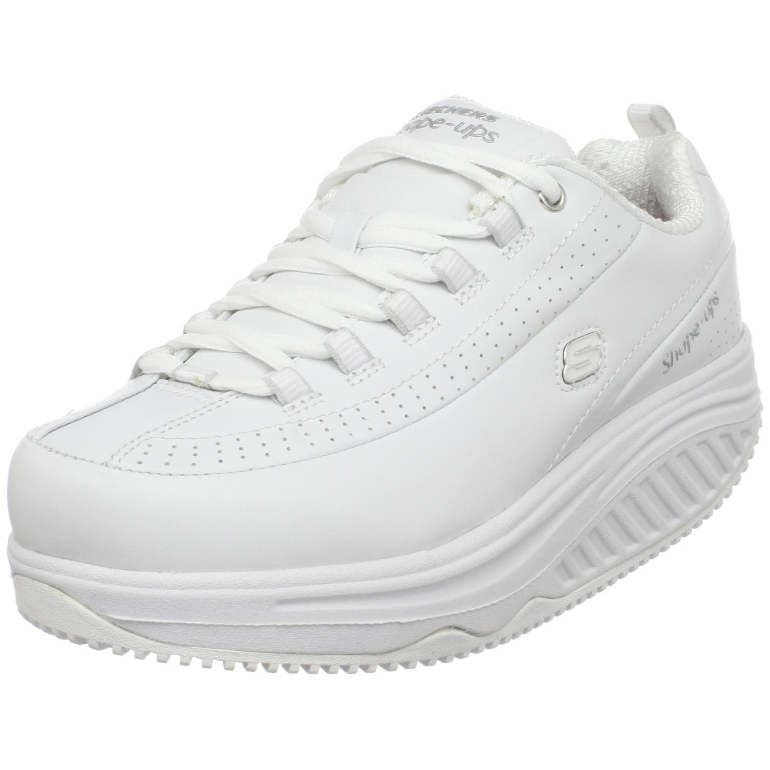 Skechers for Work Women's Shape Ups Slip Resistant Sneaker,White,10 M US by Skechers (Image #1)