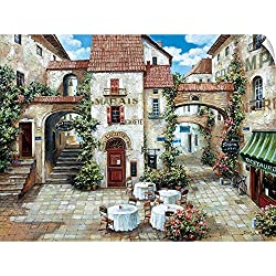"CANVAS ON DEMAND Roger Duvall Wall Peel Wall Art Print Entitled Le Marais 48""x36"""