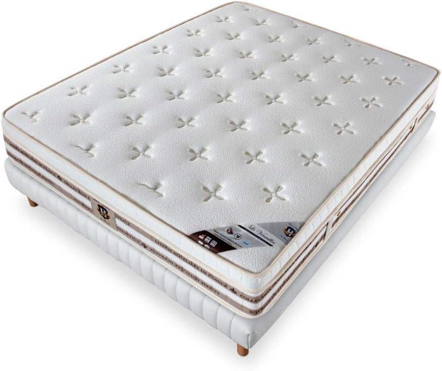 Literie de Paris - Juego de colchón de muelles y somier (160 x ...