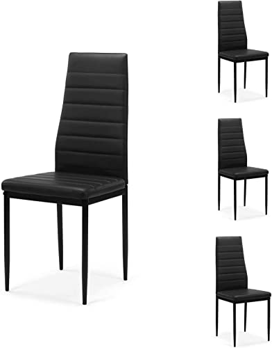 Reviewed: Meihua Dining Room Chair Set of 4 Kitchen Chair Modern Side Chair Black