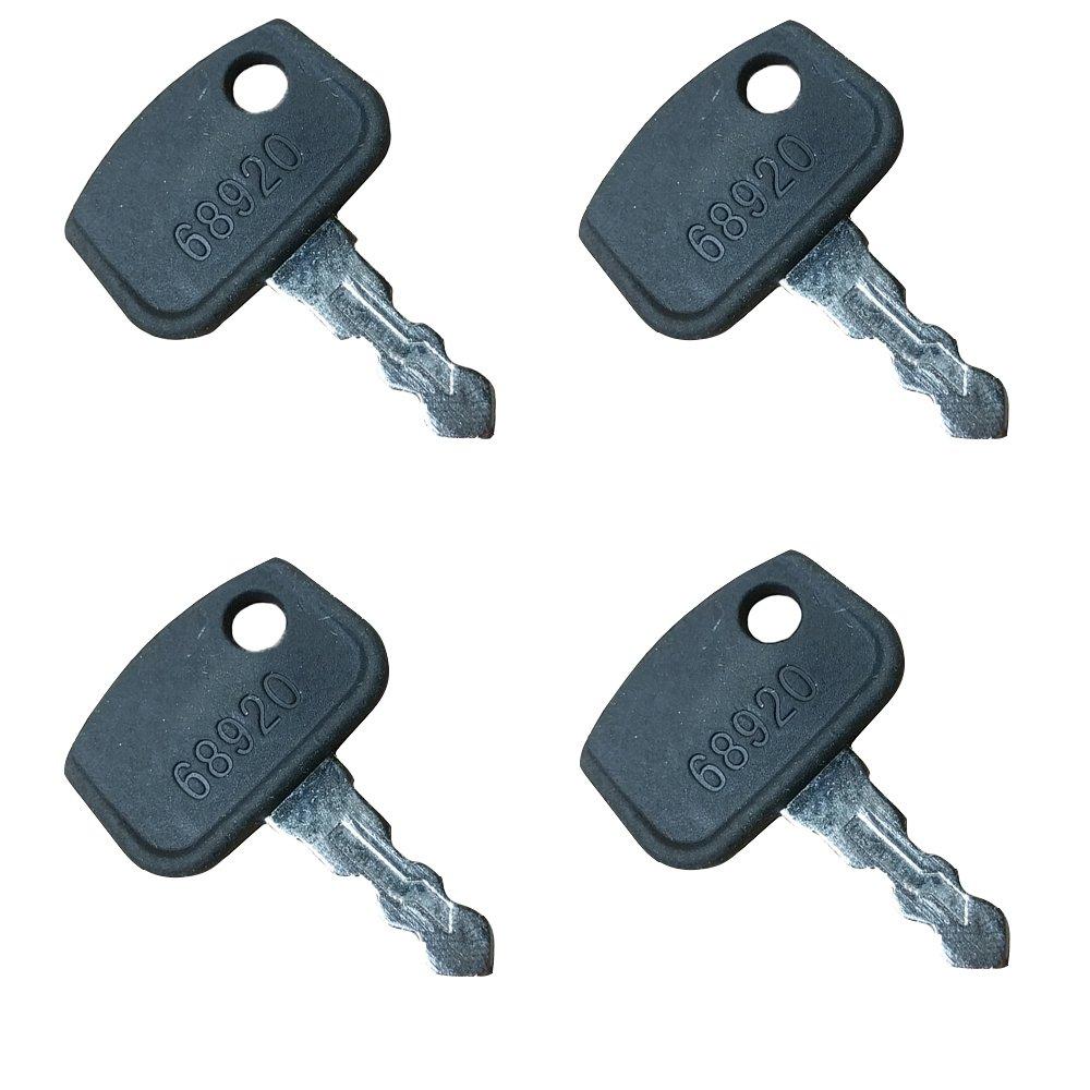 68920 (4) Keys for Kubota ATV Buggy RTV 500 900 Cart Truck Tractor Mower Aftermarket Kubota