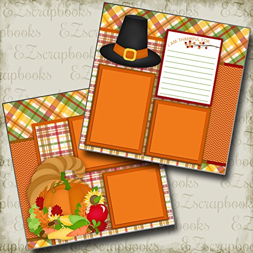 (THANKFUL FOR - Premade Scrapbook Pages - EZ Layout 2344)