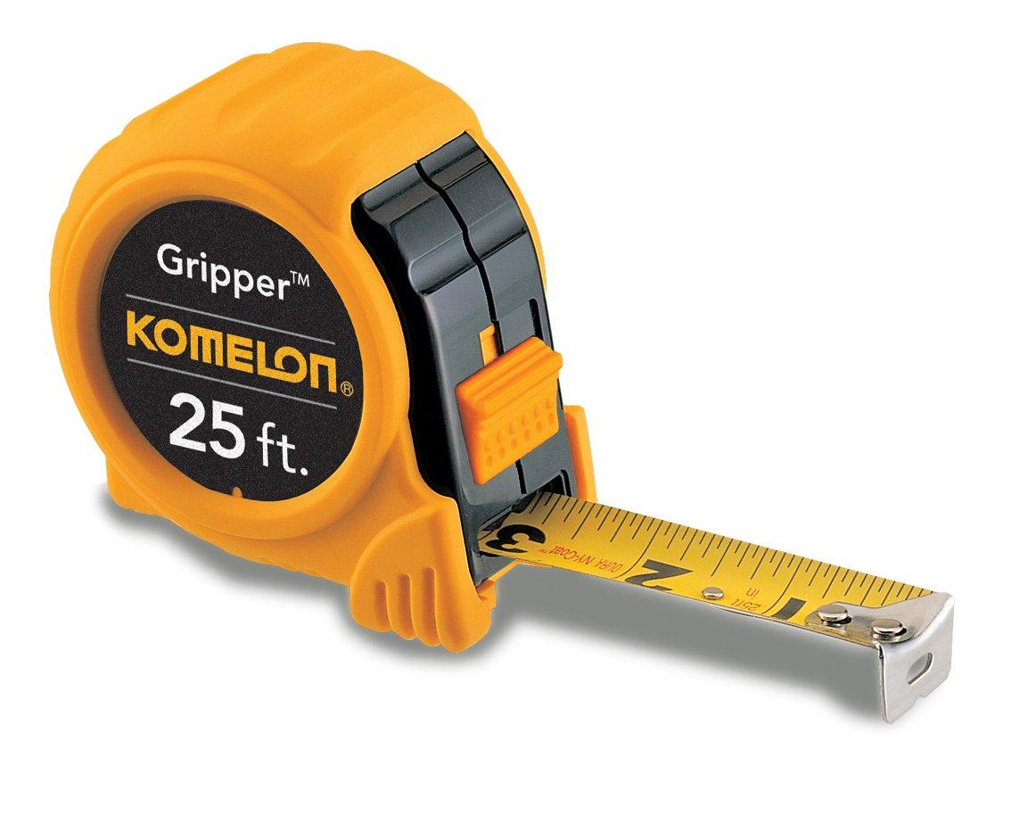 Komelon 5925 Gripper Acrylic Coated Steel Blade 25-Feet by 1-Inch, Yellow