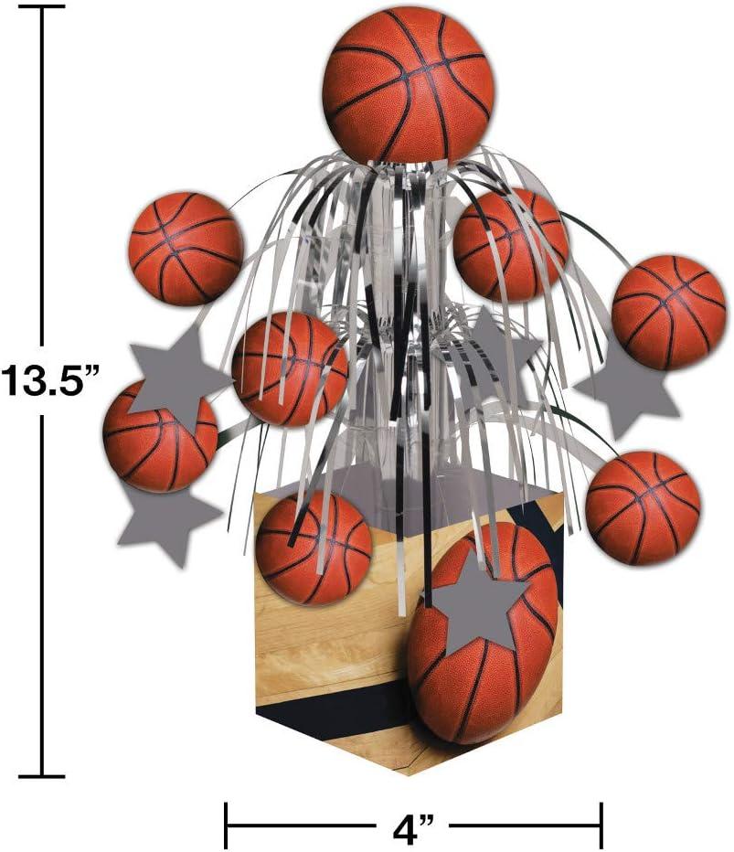Creative la conversión de fanático de los deportes Baloncesto centro de mesa con mini cascada y Base, color naranja: Amazon.es: Hogar
