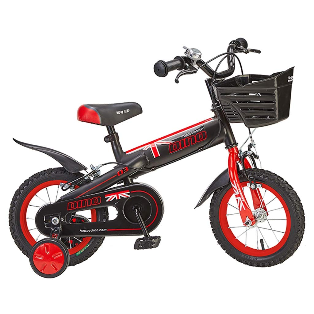 producto de calidad negro GAIQIN Durable Bicicleta Bicicleta Bicicleta para niños 2-5-7-8 años Frenos de uomoo de niños y niñas, Control de Seguridad al Aire Libre (con Cesta) (Color   negro, Tamaño   16inch) 12inch  productos creativos