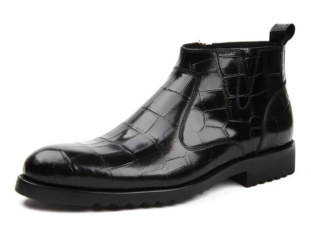 Zapatos Clásicos de Piel para Hombre Zapatos de Cuero para Hombres Zapatos de Tacón Alto Martin Boots Botas de Tacón Alto Estilo Británico (Color : Negro, Tamaño : EU40/UK6.5) EU40/UK6.5|Negro
