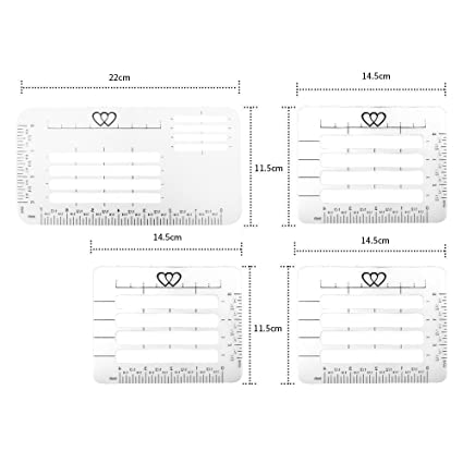 Amazon Com Envelope Addressing Guide Stencil Templates Fits Wide