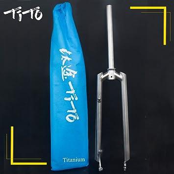 TiTo GR.9 Fourche Avant carr/ée en Titane pour VTT avec Roues 66 cm 27,5 cm 29
