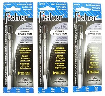 - 1 Each Fine SPR1F Blue Fisher Space Pen Pressurized Refill