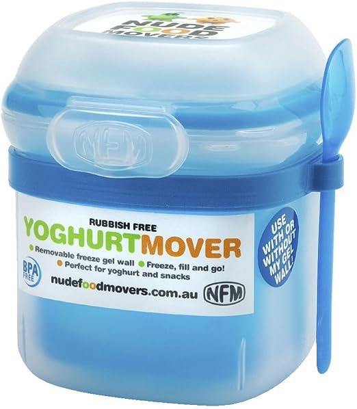 Nude Food/mudanzas yogur recipiente con congelador de comer hierba ...