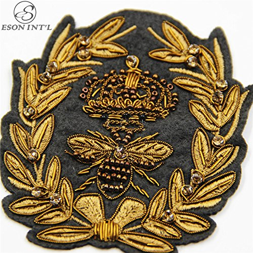 Epaulet Patch, India Silk Embroidered Applique, Embroidered Patch, Iron On Patch,(1pc) (Applique Epaulet)