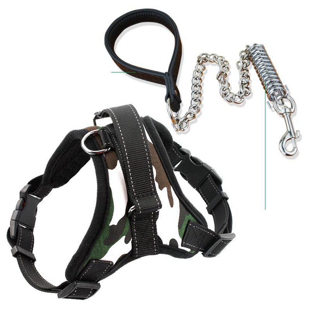 Camouflage XL Camouflage XL Jim Hugh Comfortable Pet Dog Matched Leashes Adjustable O Styles Dog Pet Vest Harness