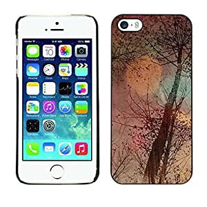LASTONE PHONE CASE / Slim Protector Hard Shell Cover Case for Apple Iphone 5 / 5S / Tree Nature Autumn Seasons Art Painting
