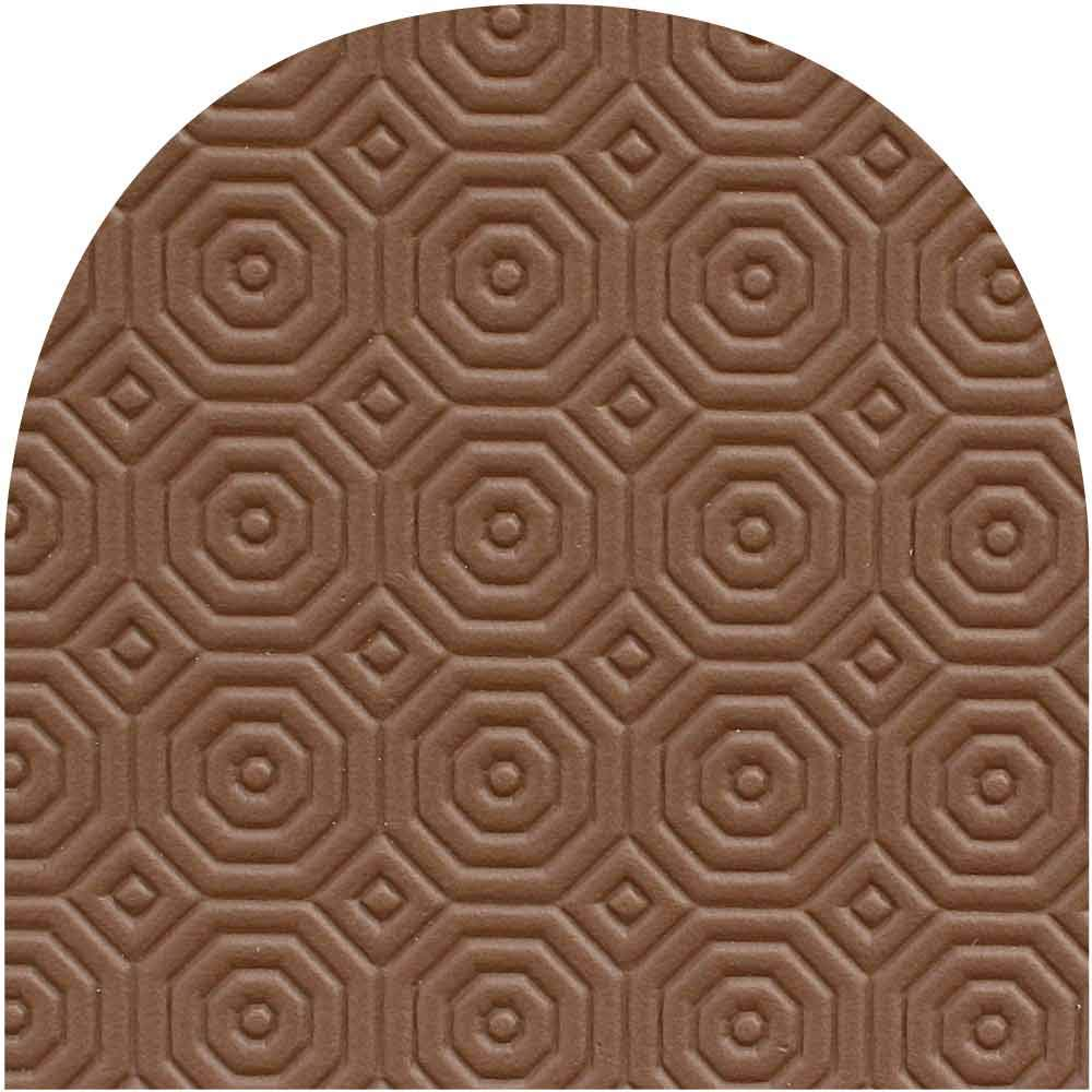 Blue Jigsaw Classic Brown 2.4mm Table Protector, 90cm Wide Oval With Semi Circle Ends (90cm x 120cm)
