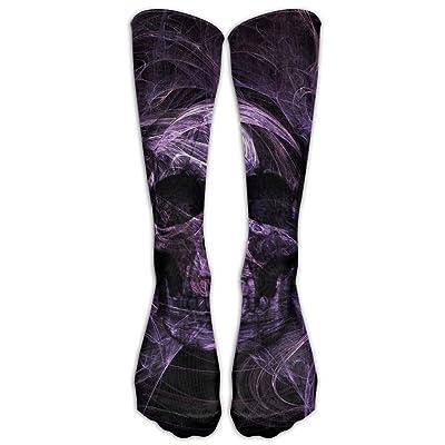 d99c5666cf54e High Boots Crew God Skull Head Lotus Compression Socks Comfortable Long  Dress For Men Women