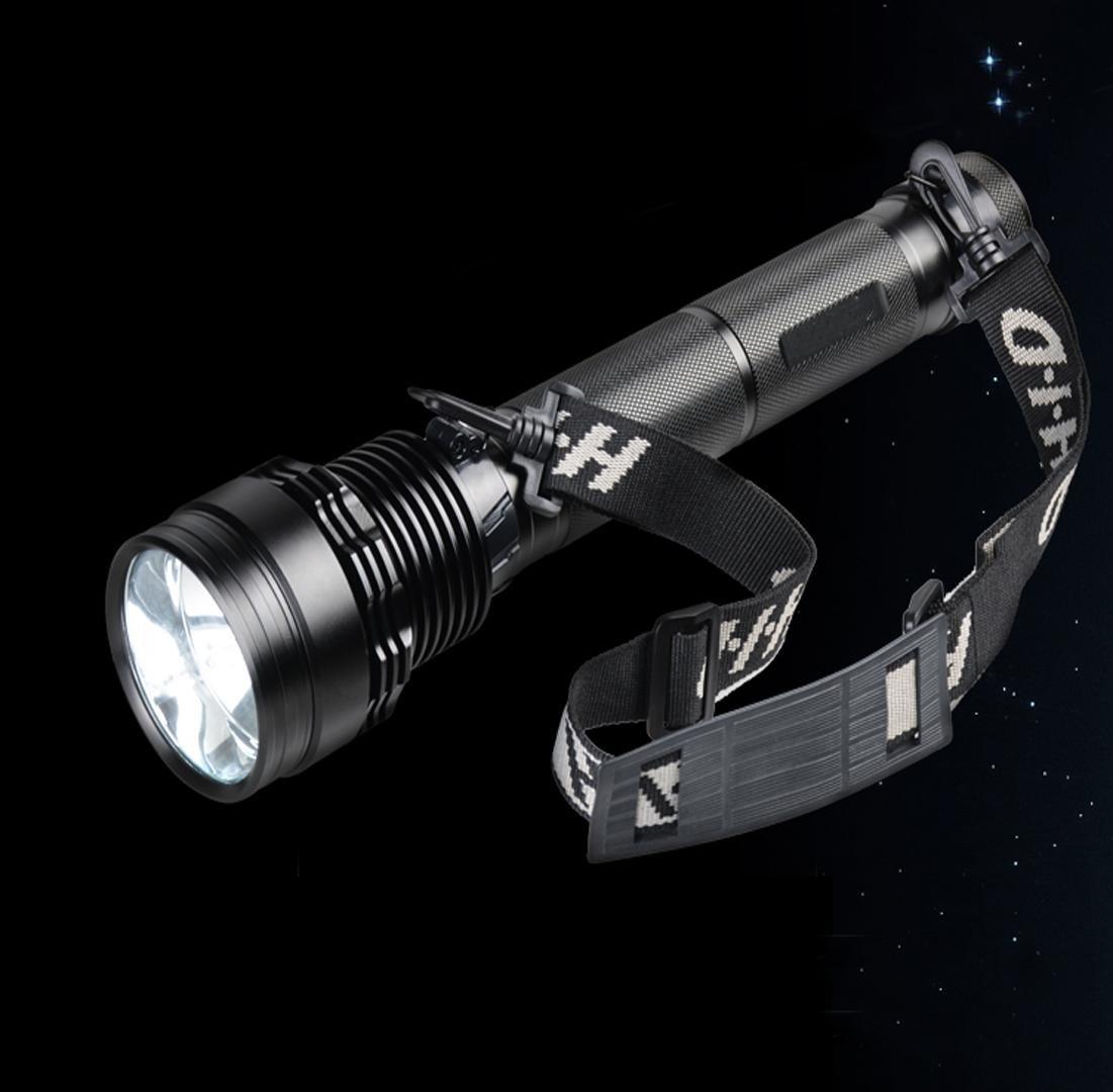 MEIYOHID Akku-Anzeige Licht im freien weiträumige Zoom Xenon Taschenlampe