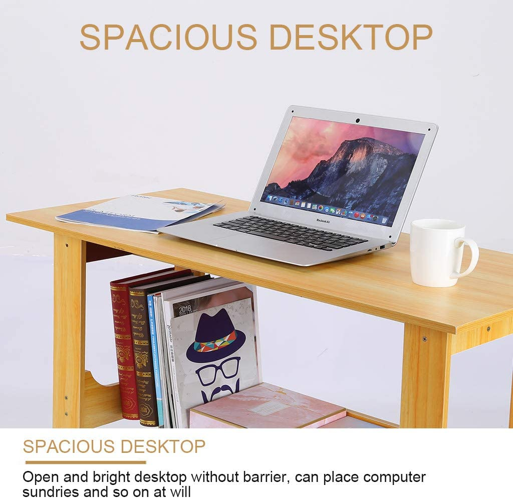 Black Black Modern Simple Style Computer Desk,Office Desk 【US Ship】 Computer Desk 39 Study Writing Table for Home Office