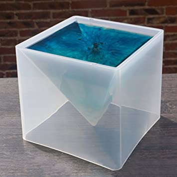 Somedays Molde de silicona para decoración de súper pirámide, 15 cm, molde de flores secas, molde de silicona, resina de cristal, herramienta de ...