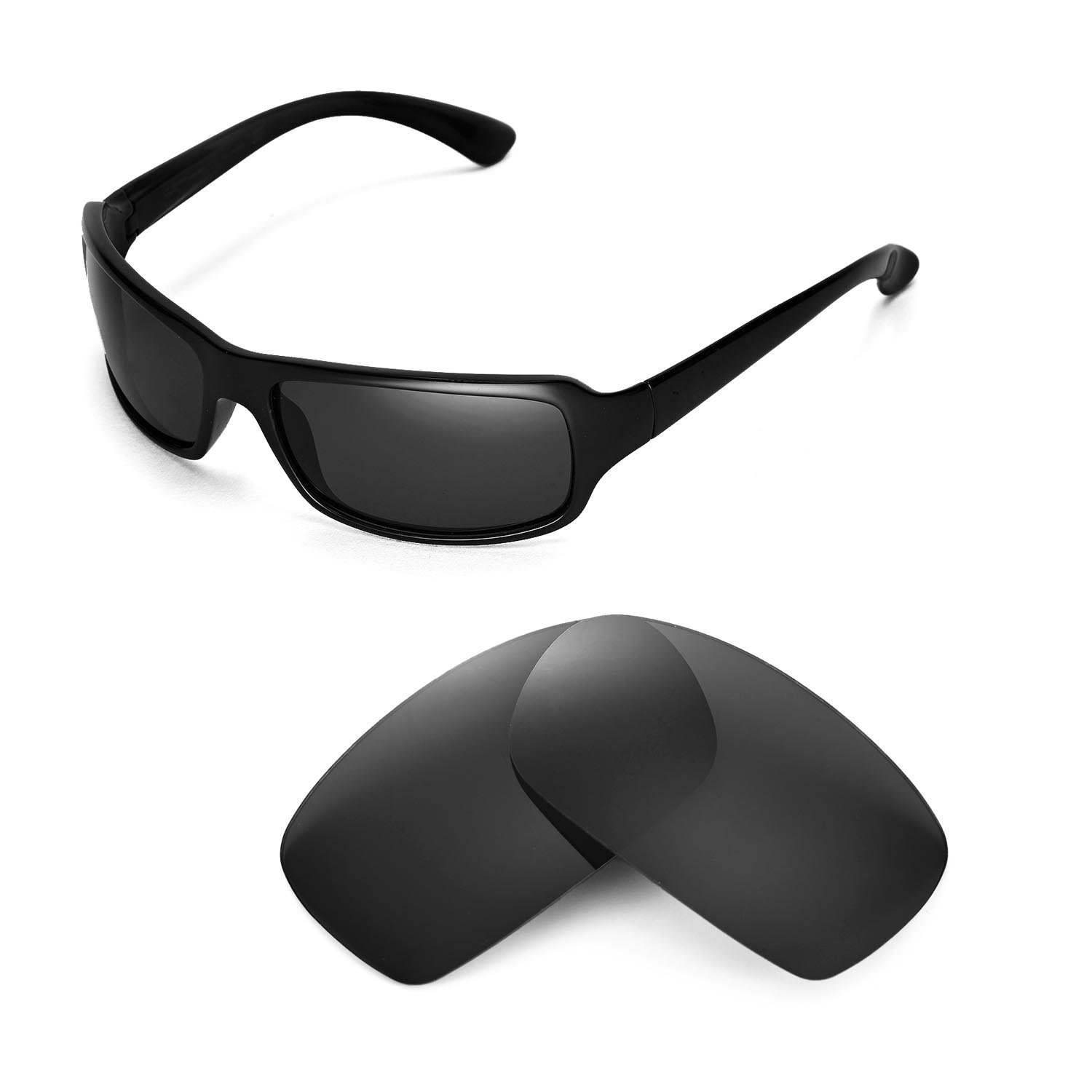 Amazon.com  Walleva Replacement Lenses for Ray-Ban RB4075 61mm Sunglasses -  Multiple Options Available(Black - Polirazed)  Clothing 7778bdf43204