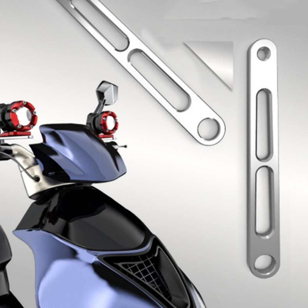 Baoblaze CNC Aluminum Motorcycle Expansion Bracket Fits for Light Holder Mount Clamp