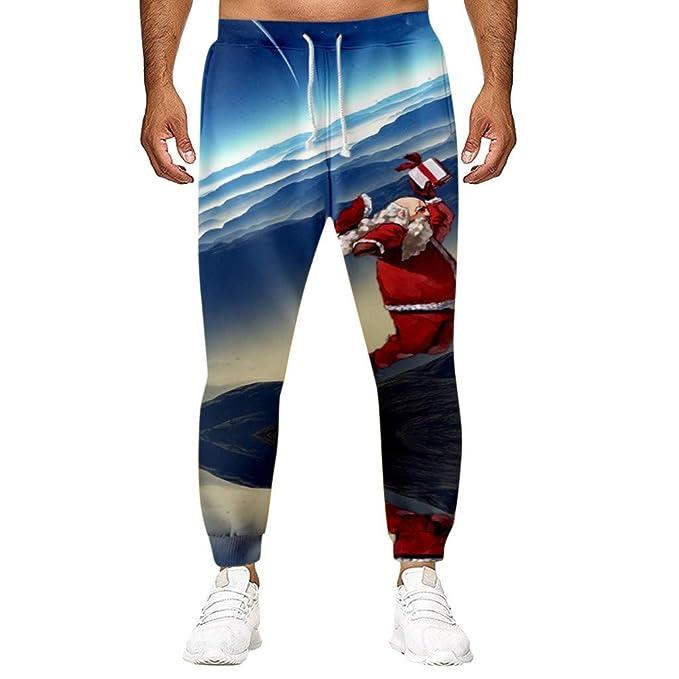 beautyjourney Pantalones de Navidad de impresión 3D Pantalones ...