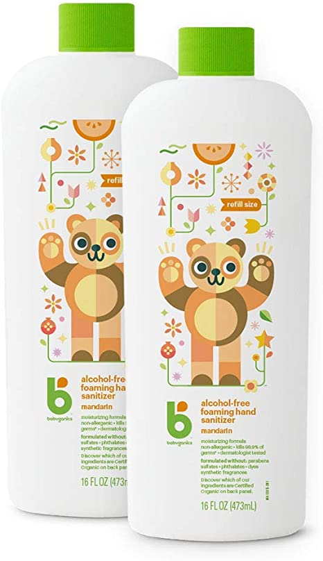 Babyganics Alcohol Free Foaming Hand Sanitizer Refill Mandarin