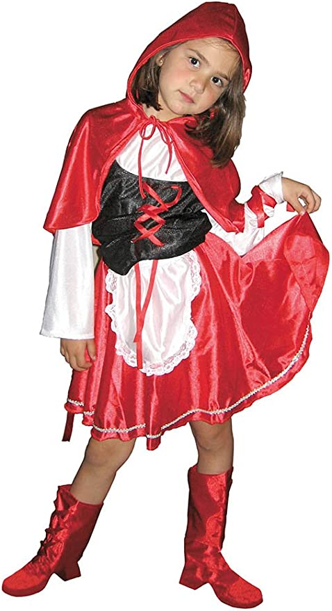 EL CARNAVAL Disfraz Caperucita Roja Talla de 8 a 10 años: Amazon ...