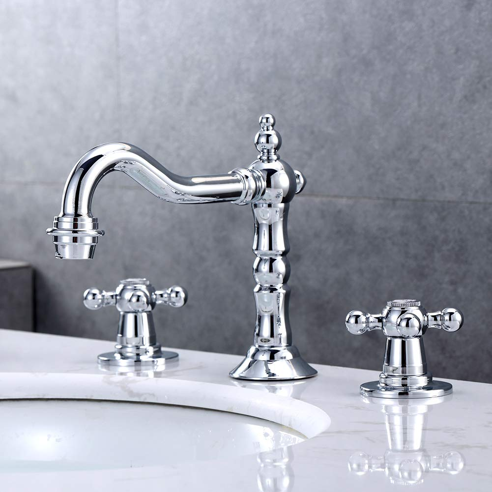 8. Kaima Widespread Bathroom Faucet