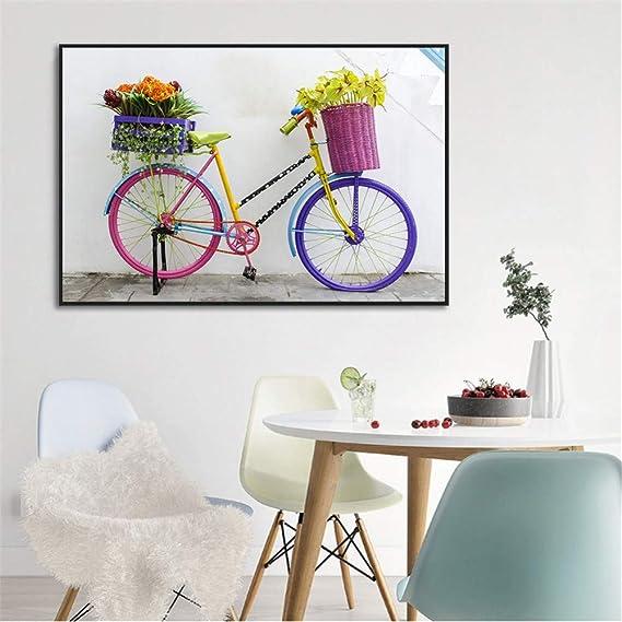 RQJOPE Pintura Decorativa Bicicleta Navidad Bicicleta Silueta ...