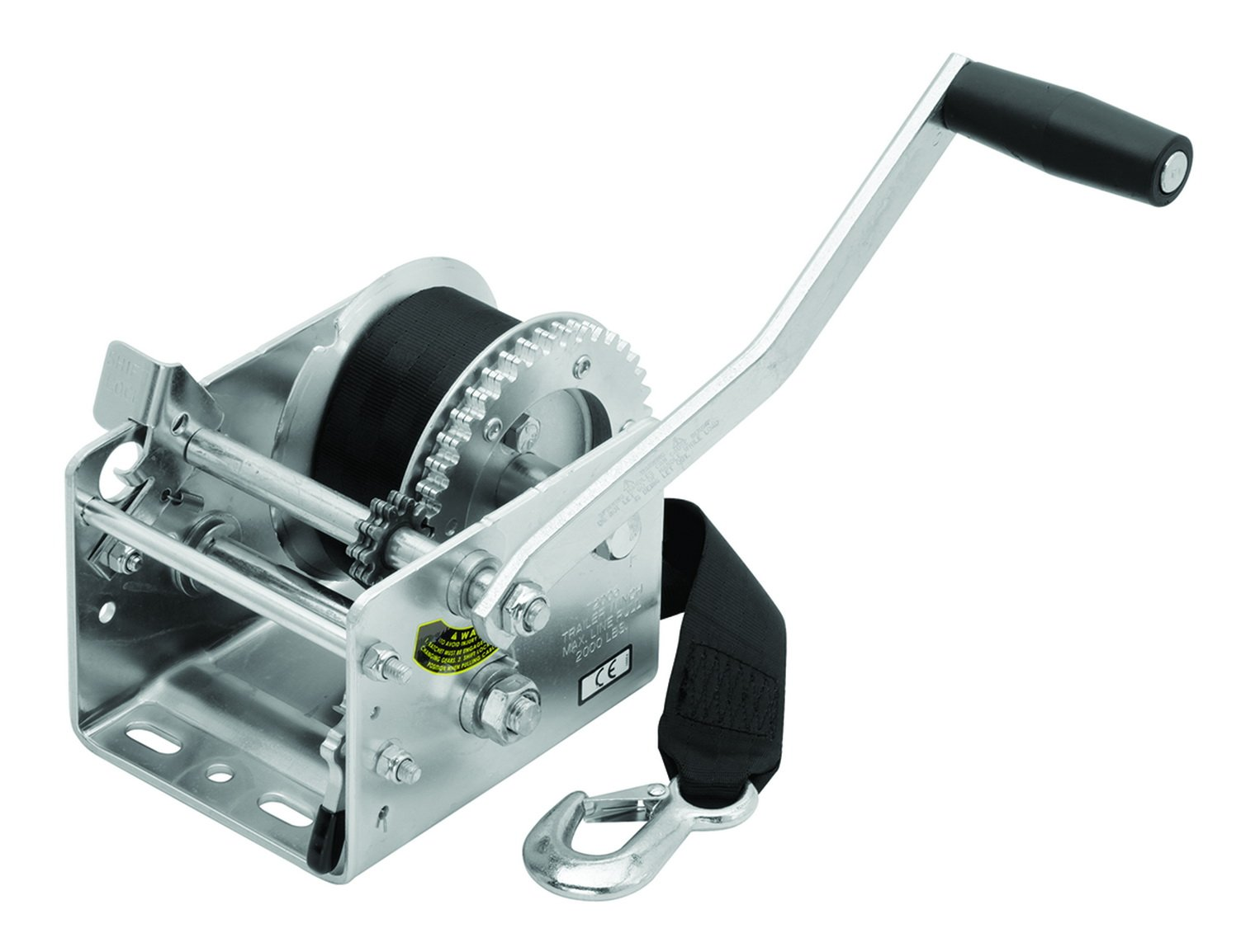 Fulton Trailer Winch, 2-Speed with 20-Feet Strap, Holds up to 2000-Pound by Fulton