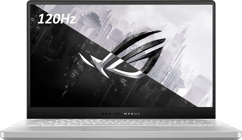 Asus ROG Zephyrus G14 14.0-inch FHD 120Hz Ultra Thin Gaming Laptop PC, AMD Octa-Core Ryzen 9 4900HS, Nvidia RTX 2060-MaxQ, 16GB DDR4 RAM, 1TB SSD, Backlit Keyboard, Moonlight White