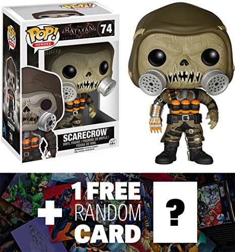 Scarecrow: Funko POP! x Arkham Knight Vinyl Figure + 1 FREE Official DC Trading Card Bundle [62910] (The Dark Knight Scarecrow)