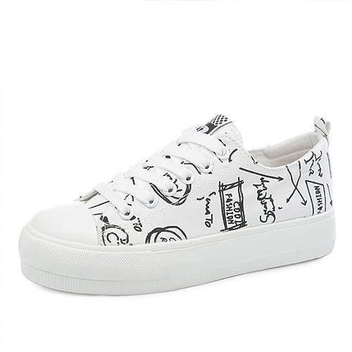 Estudiantes verano graffiti zapatos/Plataforma de suela gruesa/Calle plana casual zapatos de lona-A Longitud del pie=24.8CM(9.8Inch)  Zapatillas para Hombre  Gris (Charcoal/Black)  42.5 EU Skechers Flex Advantage 1.0-Zizzo GDGzIHCG