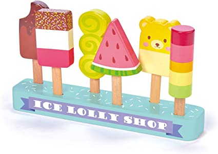 Tender Leaf Toys Ice Lolly Shop 7 Pieces Pretend Food Play Toy With Wooden Popsicle Ice Cream Bar Encourage Role Play And Develops Social Skills For Children 3 Toys Games