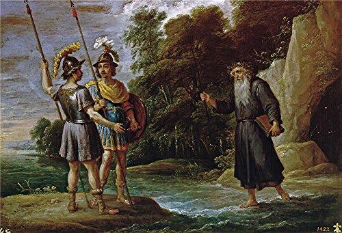 Oil Painting 'Teniers David El Mago Descubre A Carlos Y Ubaldo El Paradero De Reinaldo (La Busqueda De Reinaldo) 1628 30' 16 x 23 inch / 41 x 60 cm , on High Definition HD canvas prints, Dinin decor